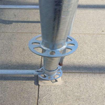 洪祥盘扣脚手架 已搭建稳定性好 建房施工
