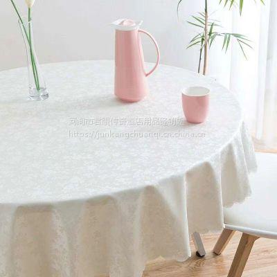 君康传奇纺织家用PU欧式桌布防水免洗塑料布艺餐桌布台布防油