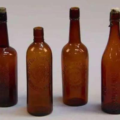 山东林都330ml啤酒玻璃瓶