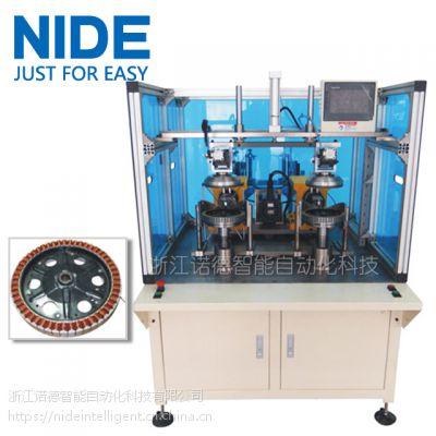诺德全自动双工位轮毂电机定子绕线机,电瓶车外转子绕线机
