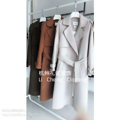 京温服装市场沃姆莎双面呢冬季女式羊绒大衣品牌折扣女装批发