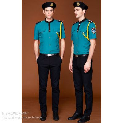 淄博厂家订做保安员长袖制式衬衣 临沂保安标志服订制夏裤 形象服装订做