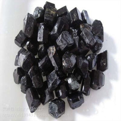 供应电气石系列产品 柱状黑色电气石 高纯晶体电气石粉
