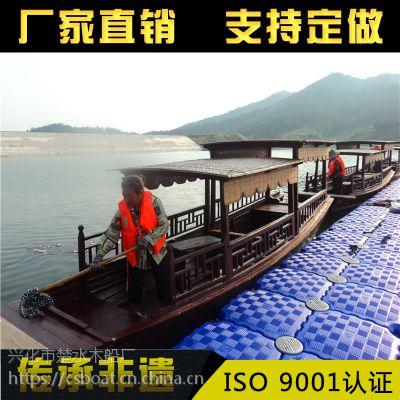 供应上海楚水8M纯手工cs-003高低篷木船手划船服务类船
