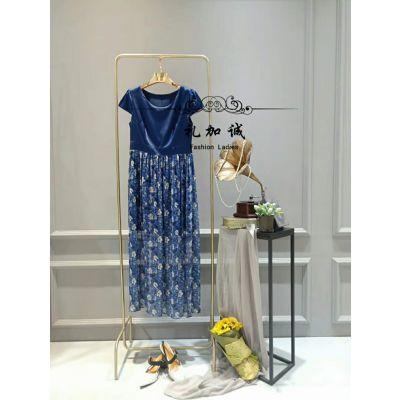 高端桑蚕丝连衣裙品牌华地缘女装折扣店哪里有好的进货渠道