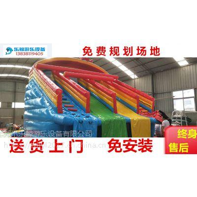 大型水上乐园设备支架水池大型充气水池移动式游泳池充气滑梯