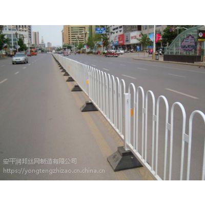 锌钢市政护栏 京式道路隔离栏 太阳能爆闪灯市政围栏 防撞栏