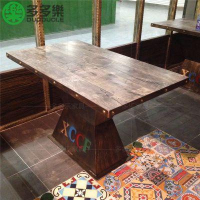 主题餐厅桌椅 复古工业风餐桌椅 个性餐厅桌椅