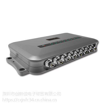 Linux操作系统超高频八通道式读写器 rfid固定式数据采集识别设备 R2000芯片大功率中间件