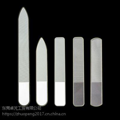 供应[2018新款]自主品牌透明玻璃带LOGO美甲工具纳米玻璃抛光指甲锉