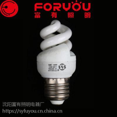 厂家供应三基色节能灯3W小全螺白光暖光e14e27OEM