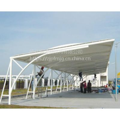 膜结构车棚安装方法膜结构加工厂室外充电桩车棚钢结构