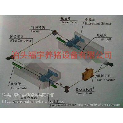 自动清粪设备刮粪机安装福宇养猪设备专业生产