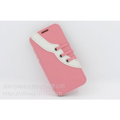 深圳市新款时尚运动鞋样式iphoneX左右翻开手机皮套iPhone8皮套批发