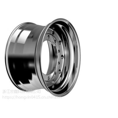 22.5*11.75宏鑫牌锻造铝轮毂卡客车轻量化汽车轮