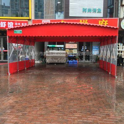 聊城厂家直销临时仓库帐篷大型物流雨蓬户外推拉雨棚
