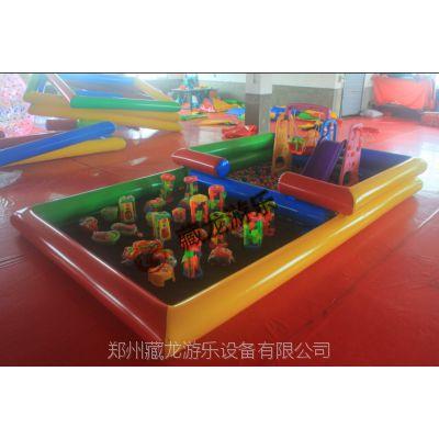 生产批发多色充气水池,儿童充气游泳池玩沙池,PVC加厚布料