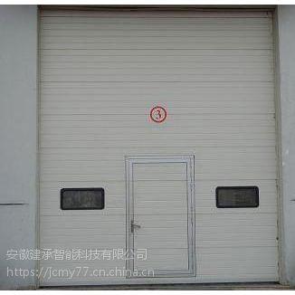 白银订做遥控提升门 建承分层提升门价格 甘肃工业门厂家