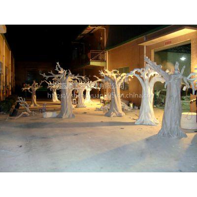 PU泡沫假树 定做假树泡沫树 玻璃钢假树
