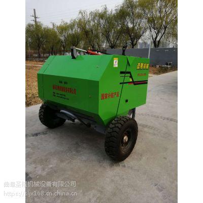 兴化市秸秆麦草捡拾打捆机 圆草捆捆绑机厂家