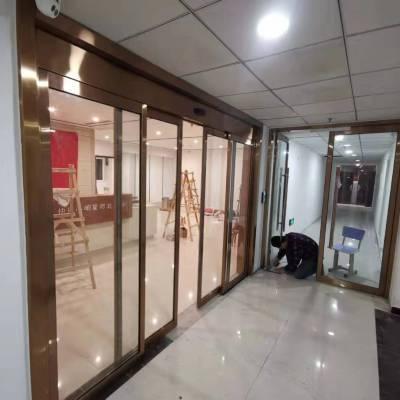 石家庄转转门业铝型材1900*2400酒店专用自动门安装设计