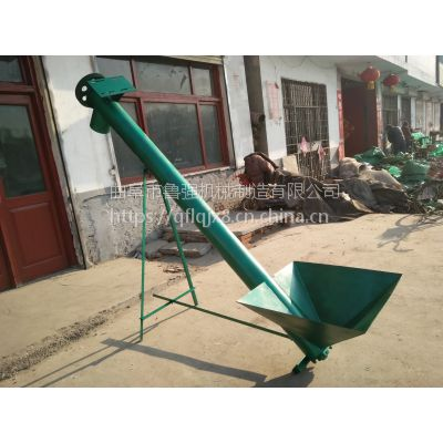 鲁强生产6米铁管粉状颗粒螺旋输送机 垂直上料螺旋提升机