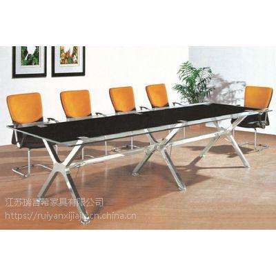定制办公家具现代钢化玻璃会议桌 小型开会桌厂家热销