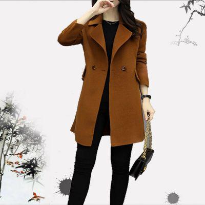 2018新款热卖库存杂款女装中长款韩版修身毛呢大衣时尚外套货源