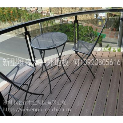 深圳龙岗户外平台地板厂家供应14023实心户外人造木防晒防腐地板