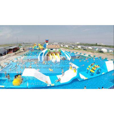 夏季移动水上乐园厂家郑州卧龙直销 儿童喜爱的水上浮具 水上大闯关设备
