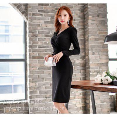 2018年韩版春装新款时尚连衣裙