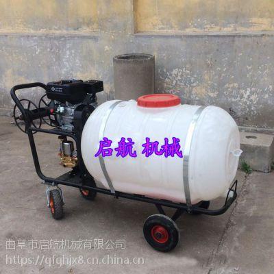 陕西省果园苗圃打药机 手推式喷雾器厂家 启航牌农田汽油远射程拉管打药机