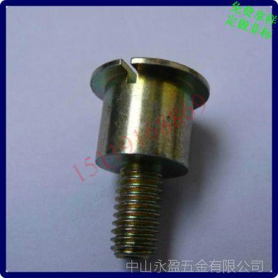一字槽大圆柱头螺丝 带垫片大圆柱头小螺纹螺丝 订做加工M3456810