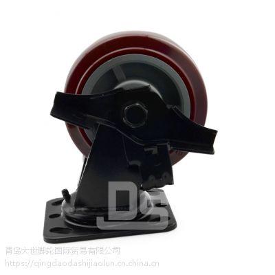 大世脚轮 缓冲高强度塑料轮 重型工业小脚轮 耐高压重荷塑料小轮子