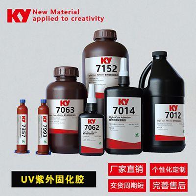 紫外线胶水7061,柱式微型电机磁石粘接,双重固化UV胶