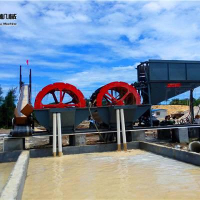 安徽水洗砂机械 轮式筛砂水洗设备供应
