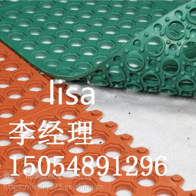 12mm 厚青岛广能供应彩色耐磨橡胶垫 防滑橡胶垫 运动地垫橡胶脚垫
