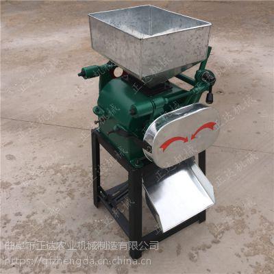 简单操作麦扁机厂家 对辊式豆子压扁机