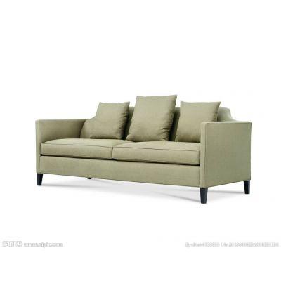 美式乡村实木布艺软包沙发慧和定制家具