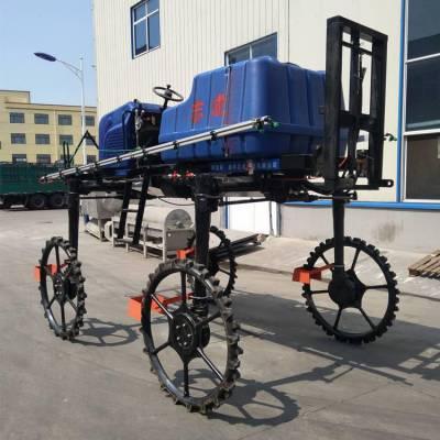 水稻小麦喷药两用机 防滴漏喷头的自走打药机 农用大型自走式喷药车