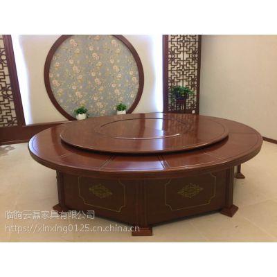 酒店电动餐桌大圆桌火锅桌酒店电动圆桌转盘餐桌