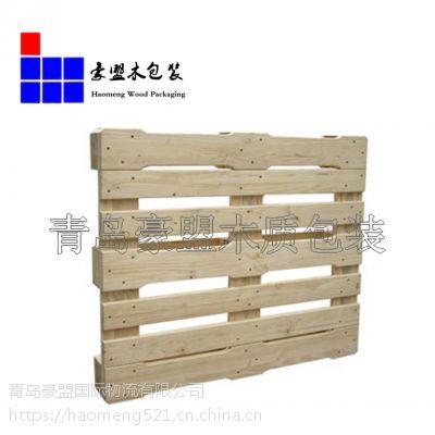 青岛木托盘厂家直销 1米*1.2米货物托盘仓库周转用托盘