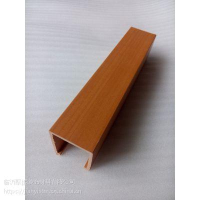 福建生态木40*45组合天花酒店吊顶效果图