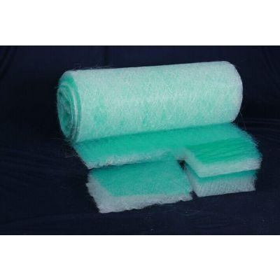 安克林厂家直销绿白玻纤棉2*20*50油雾分离耐高温玻璃纤维