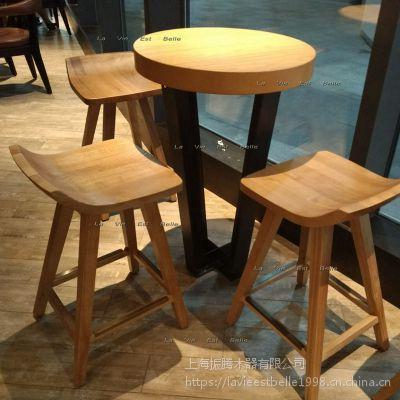 星巴克实木吧桌星巴克吧台桌定制设计