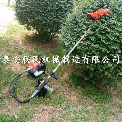 果园大棚背负式锄地机 汽油四冲程背负式除草机