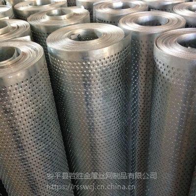 安平若胜 1*20m5孔3距冲孔网 镀锌板装饰过滤网 厂家报价