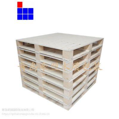 黄岛胶合板托盘厂家供应四面进叉木托盘货源充足