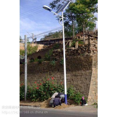 福瑞光电 廊坊新农村6米太阳能路灯安装中