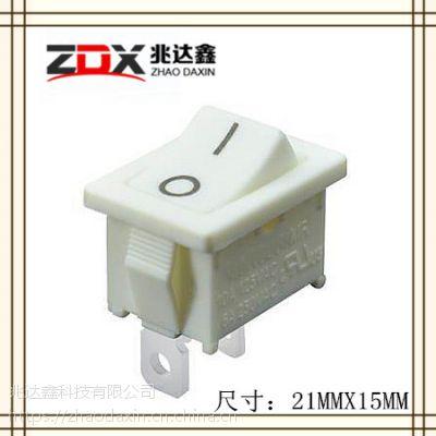(O-一)白色船形开关21X15ZDX-1110-WWA